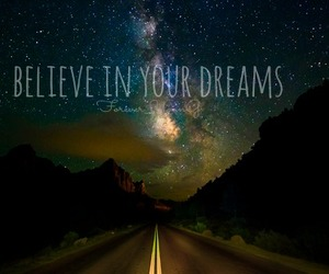 believe, dreams, and stars image