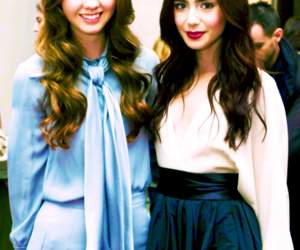 lily collins and liana liberato image