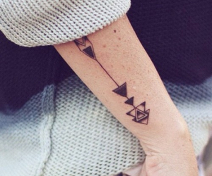 tattoo, arrow, and indie image