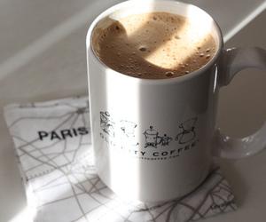 coffee, paris, and milk image