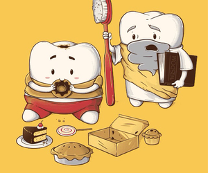 cake, choclate, and funny image