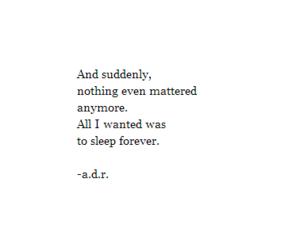 quotes, sleep, and sad image
