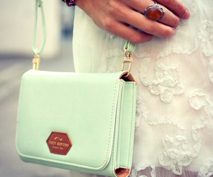 fashion, bag, and lace image