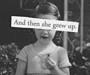 child, girl, and grew up image