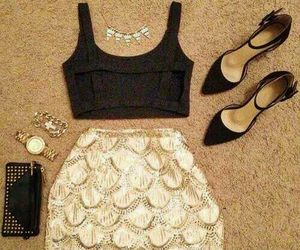 fashion, look, and skirt image