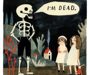 dead, skeleton, and art image