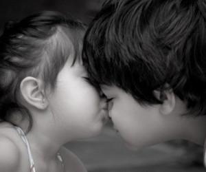 couple, kids, and kiss image