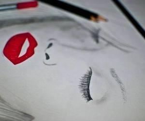 amazing, black and white, and eyes image