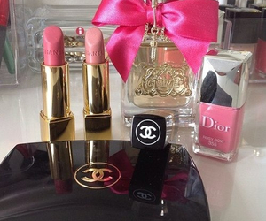 chanel, dior, and lipstick image