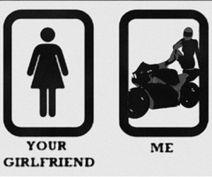 girlfriend, motorcycle, and Hot image