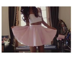 ariana grande, skirt, and pink image