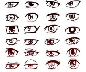 eyes and drawing image