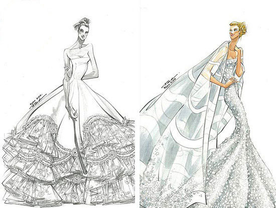 fashion sketches wedding dresses - Google Search