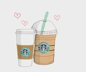 starbucks, coffee, and drawing image