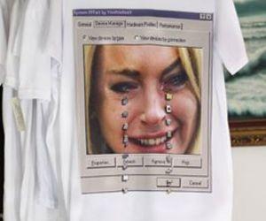 lindsay lohan and t-shirt image