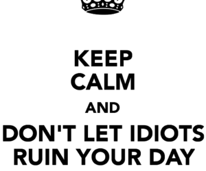 idiot, keep calm, and quotes image