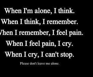 cry, alone, and pain image