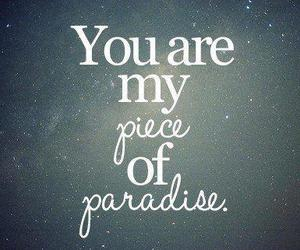 paradise, love, and quotes image