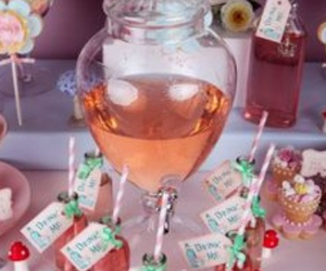 alice in wonderland, potion, and tea party image