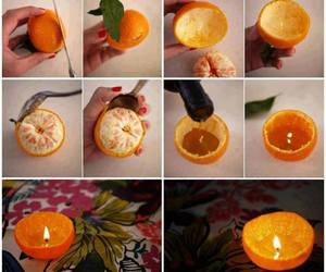 diy, orange, and candle image