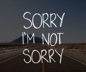 sorry, quote, and life image