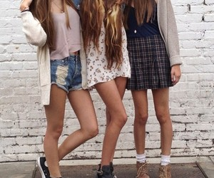 best friends, converse, and fashion image