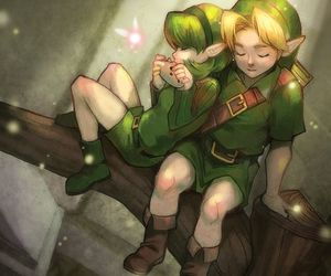link, ocarina of time, and saria image