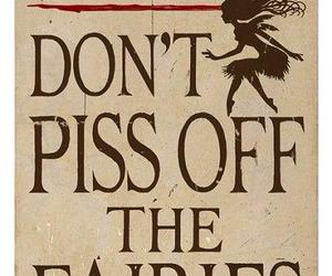 Fairies and dont piss off image