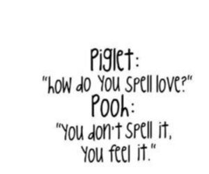 love, piglet, and pooh image