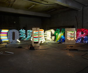 french, installation, and light image