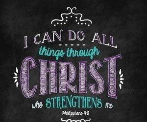 god, Christ, and strength image