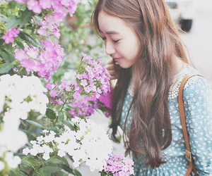 fashion, ulzzang, and flowers image