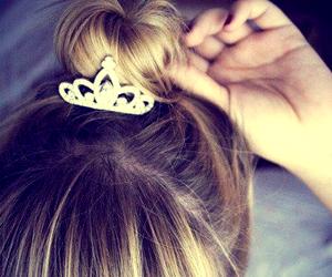 hair, princess, and crown image