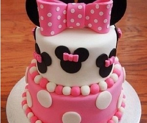 cake, disney, and pink image
