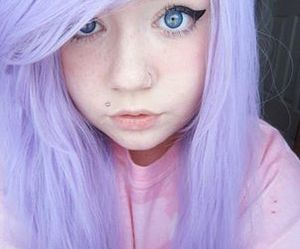 hair, kawaii, and pastel image