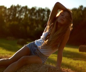 beautiful, girl, and summer image