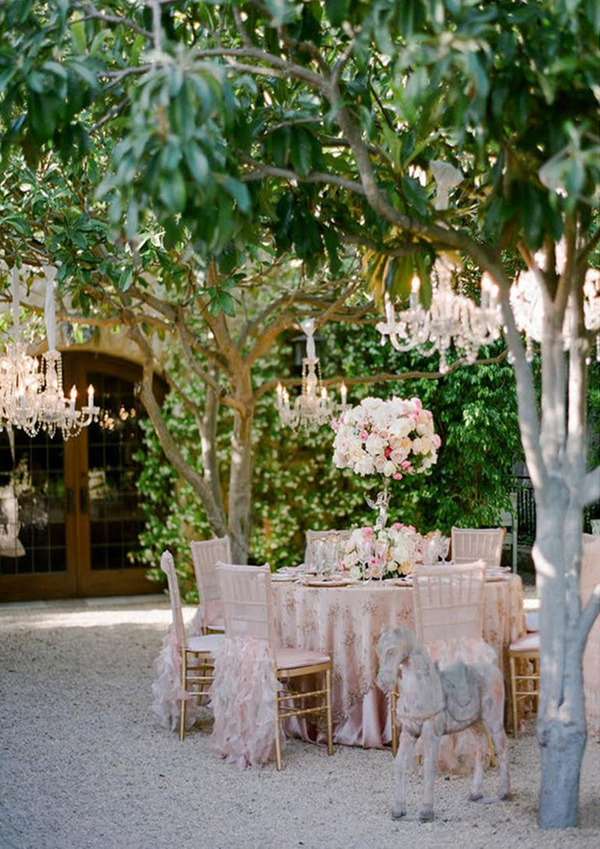 Outdoor wedding decorations chandeliers shared by isabella muoz m junglespirit Image collections