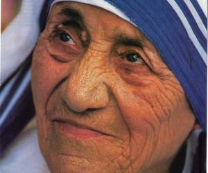 faces and mother theresa image