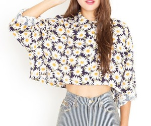 flowers, model, and outfit image