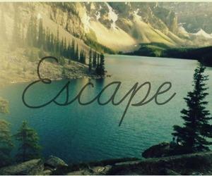 escape, quote, and nature image
