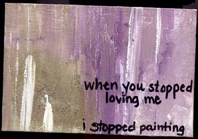 art, painting, and heartache image