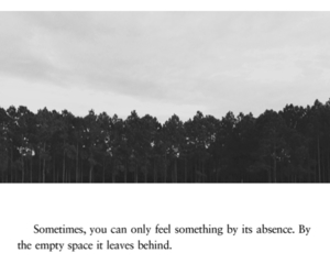quotes, absence, and sad image