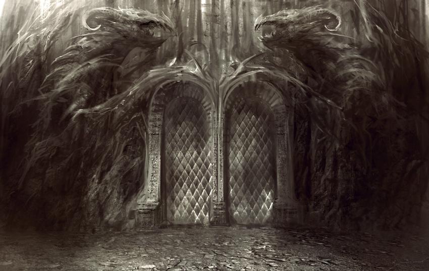 Fantasy Dark Gate Art