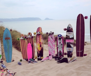 beach, summer, and skate image