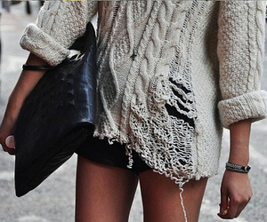 fashion, sweater, and bag image