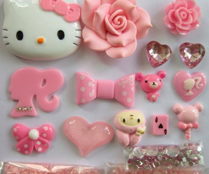 barbie, customized, and hello kitty image