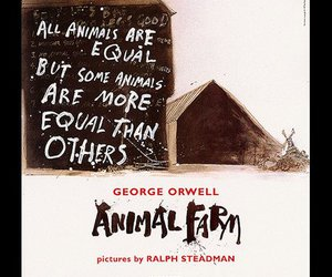 animal farm, books, and drawing image