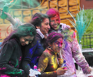 holi festival, indian festivals, and colorful festivals image