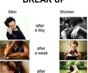 boys, break up, and men vs women image