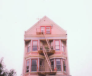 house, vintage, and pink image